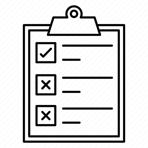 checkbox, checklist, clipboard, document, survey icon