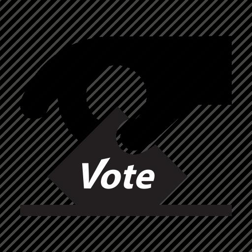concept, elections, hand, politics, slip, vote, voting icon