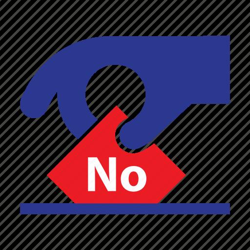 concept, elections, no, politics, slip, vote, voting icon