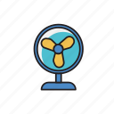 cool, electric, fan, machine, wind icon