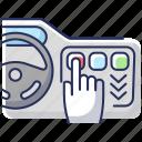 dashboard, dashboard icon, smart automobile, touchscreen icon