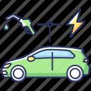 eco friendly car, hybrid vehicle, hybrid vehicle icon, transportation