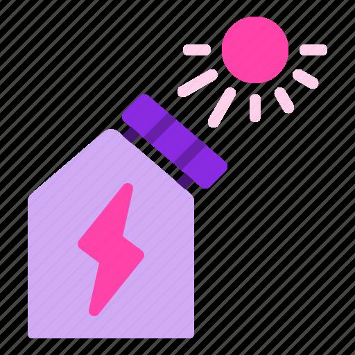 energy, panel, roof, solar, sun icon