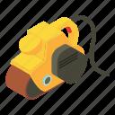 carpenter, carpentry, isometric, jack, object, plane, yellow