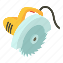 blade, carpentry, circular, electric, isometric, object, saw