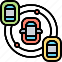 artificial, intelligence, vehicle, driverless, traffic icon