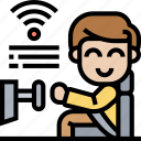 user, driver, automate, vehicle, control icon