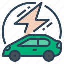car, vehicle, electricity, transportation, ev, electric vehicle, electric car icon