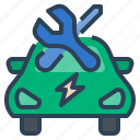 ev, service, maintenance, maintain, vehicle, electric vehicle maintenance and repair, electric car icon