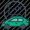 ev, vehicle, automobile, car, market growth, electric vehicle market growth, electric car icon