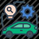 ev, vehicle, automobile, hybrid, research, electric vehicle research and development, electric car icon