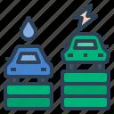 car, ev, higher priced, electric car, fuel cell vehicle, fuel cell car, electrice vehicle icon