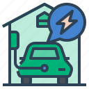 charging, ev, charger, electric, automobile, home charging station, electric vehicle icon