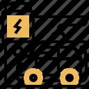 car, plug, power, recharge, vehicle icon