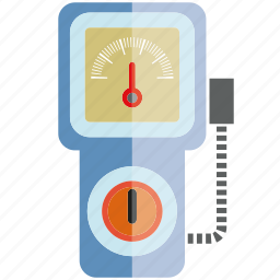 device, measure, meter, scale, volt meter icon