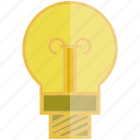 bulb, electricity, light bulb icon