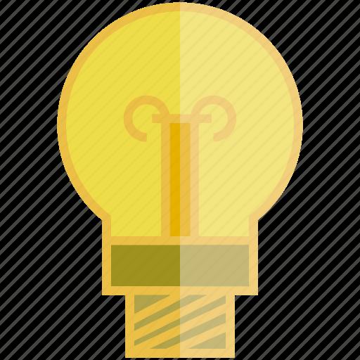bulb, electricity, light bulb icon