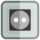 electricity, outlet icon