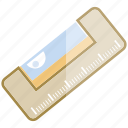 construction level, plumb, ruler, scale, tool icon