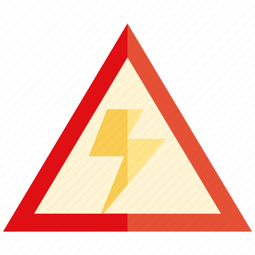 caution, electricity, thunder, warning icon