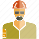 engineer, man, technician icon