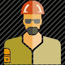 engineer, man, technician icon