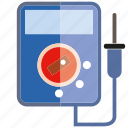 electricity, gauge, measure, measurement, meter, volt meter icon