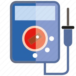 electricity, gauge, measure, measurement, meter, volt meter icon