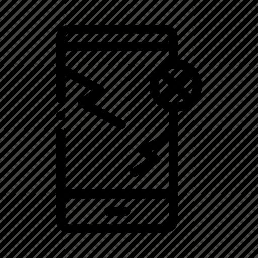 broken, smartphone icon
