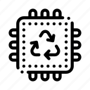 processor, recycle icon