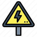 danger, electric, sign, signaling, triangle, warning