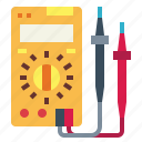 ammeter, electronics, multimeter, tools icon