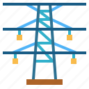 electricity, energy, line, power, tower