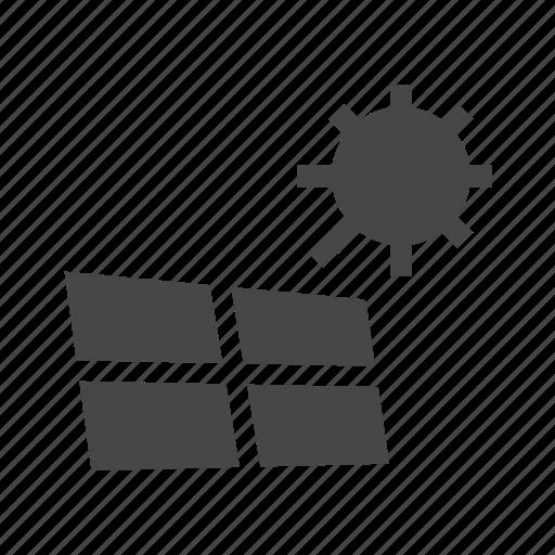 electricity, panel, solar icon