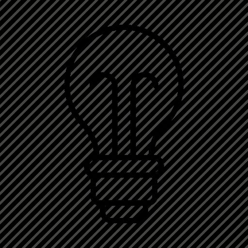 bulb, electrical, electrician, electricity, light, power, tradesman icon