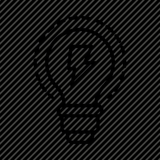 bulb, creative, electrical, electrician, electricity, power, tradesman icon