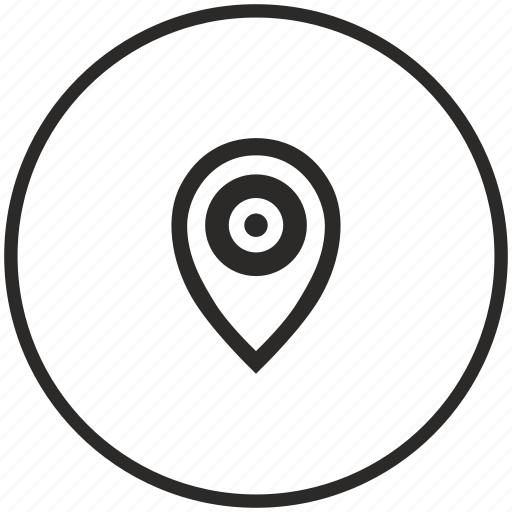 aim, circle, geo, location, point, pointer icon