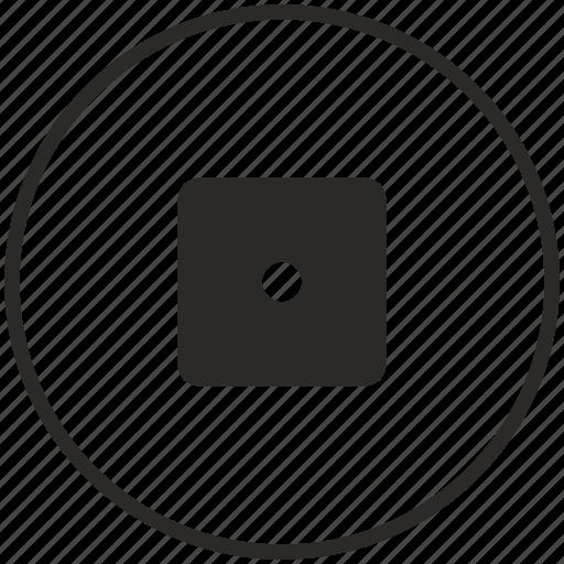 calc, calculator, circle, comma, dot, function, math icon