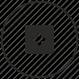 add, calc, calculator, circle, instrument, math, plus icon
