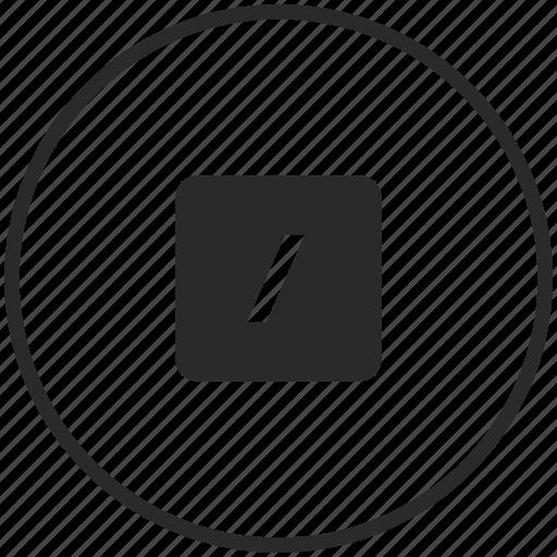 calc, calculator, circle, divide, math, operation icon