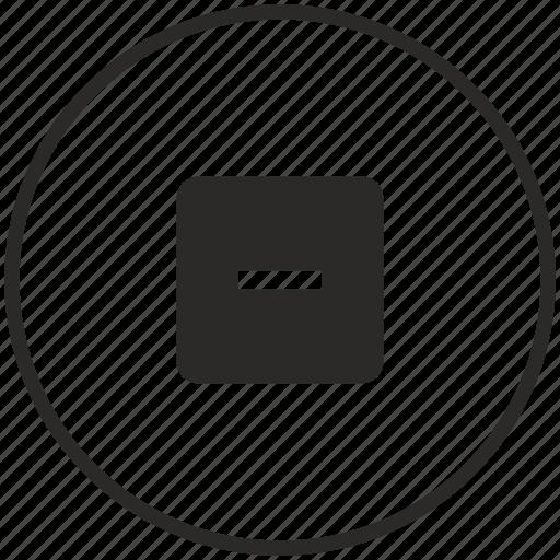 calculator, circle, math, minus, operation icon