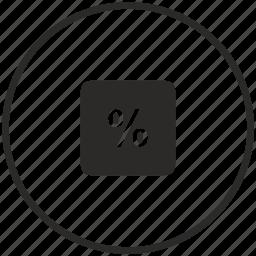 calc, calculator, circle, math, operation, percent icon