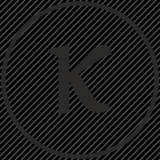 alphabet, greek, kappa, letter icon