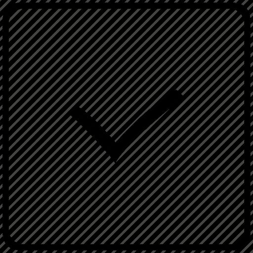 accept, check, checkmark, done, key icon