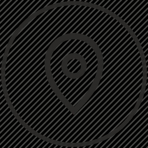 circle, geo, location, point, pointer icon
