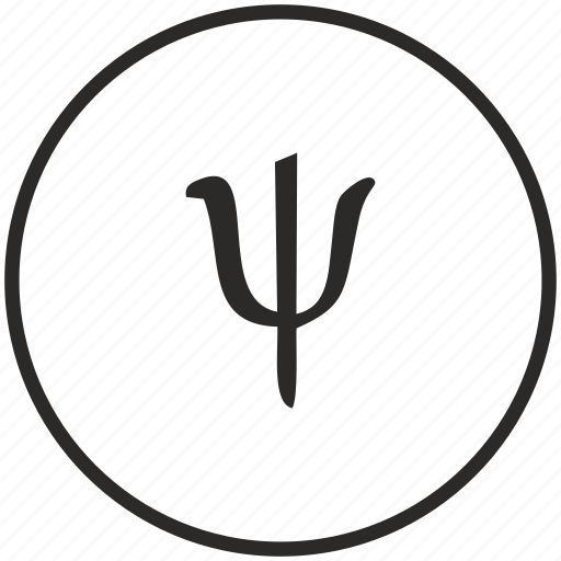 alphabet, greek, letter, psi icon