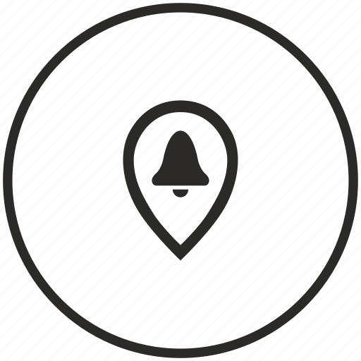 bell, point, pointer, ring icon