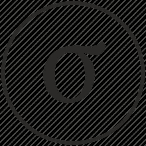 Alphabet, greek, letter, sigma icon - Download on Iconfinder
