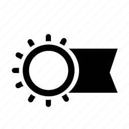 burn, circle, flag, light, rays, sun icon