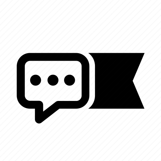 bubble, dialogue, flag, message, points icon